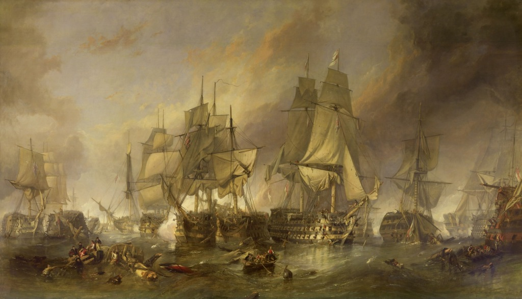 The Battle of Trafalgar by William Clarkson Stanfield 1024x587 Trafalgar, la tormenta perfecta